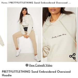 Pretty little thing Embroidered hoodie